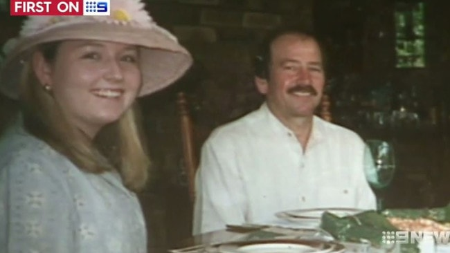 Sarah Spiers, pictured with her shearer father, Don, not long before she disappeared in 1996. Picture: Channel 9.