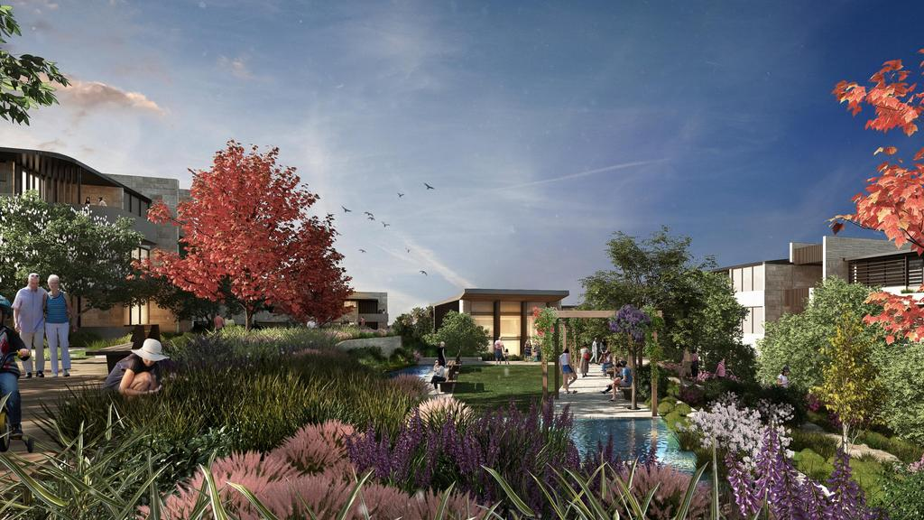 An artist's impression of a garden at Waterbrook Bayview. Picture: Supplied.