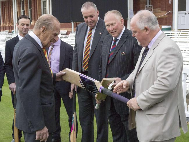 Prince Philip during his visit to open the new Warner Stand at Lord's Cricket Ground in London on May 3. Picture: AFP
