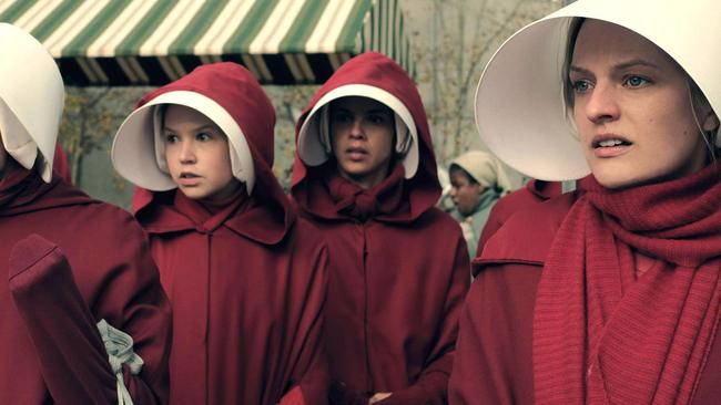 A scene from Hulu's adaptation of  <i>The Handmaid's Tale</i>.