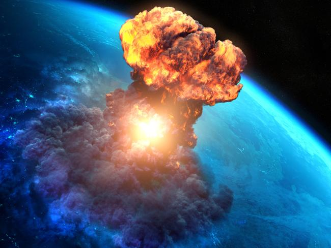 A giant asteroid hitting the earth could wipe out civilisation as we know it. Picture: Supplied