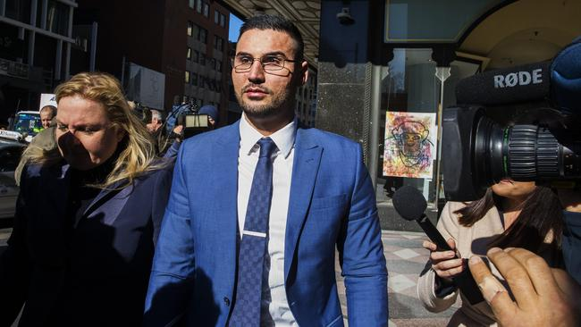 Salim Mehajer leaves The Downing Centre during a break from sentencing in June this year. Picture: Jenny Evans.