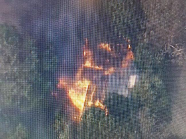 Another home lost to Bunyip bushfire. Picture: Twitter/@9NewsMelb