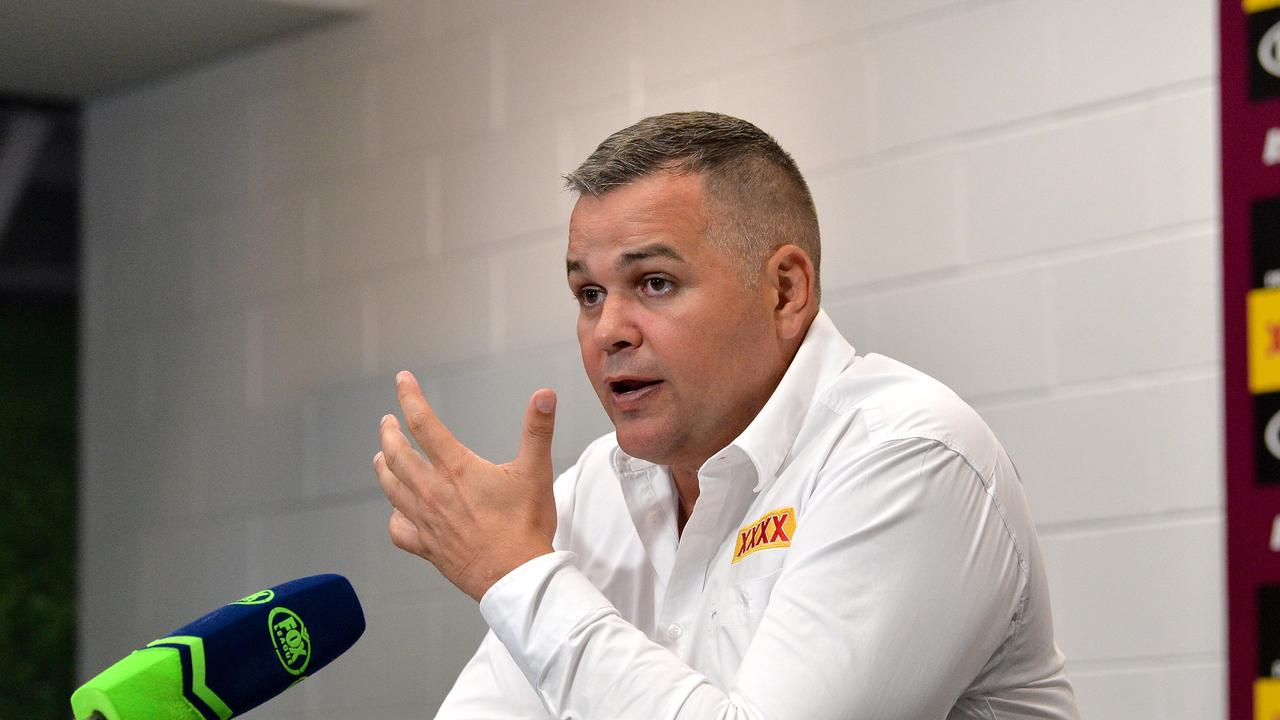 Anthony Seibold addresses the media after his side's loss to the Titans