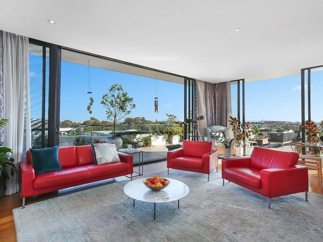 The three-bedroom penthouse with rooftop garden being sold by Shane and Kate Richardson.