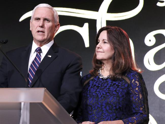 "Gaga said Pence was ""the worst representation of what it means to be a Christian"". Picture: Paul Morigi/Getty Images"