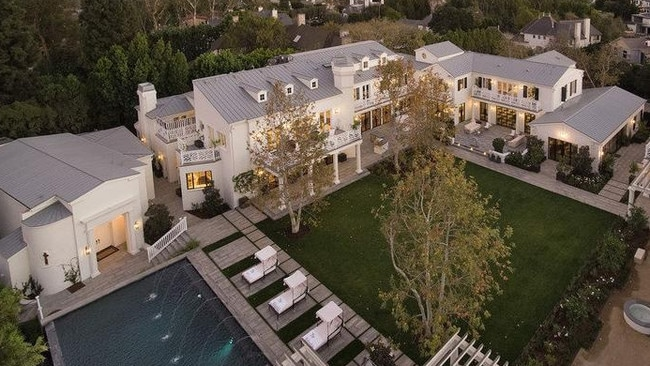 James Packer's new $80 million Los Angeles mansion will be his permanent base. Picture: Joe Bryant.