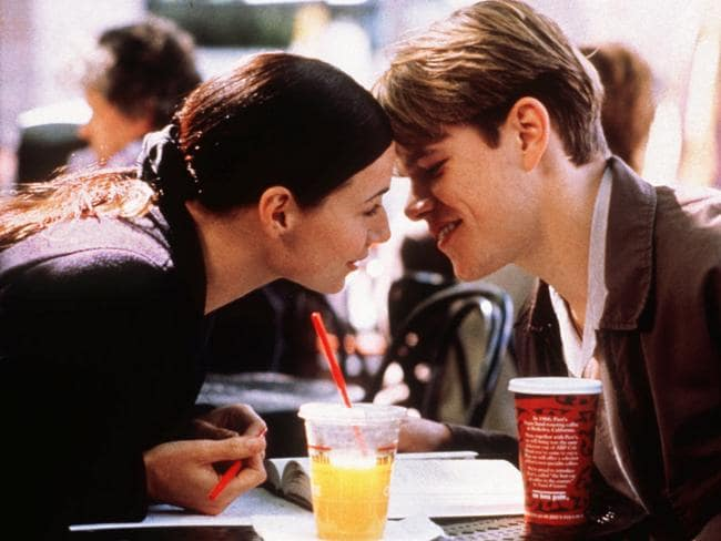 Minnie Driver and Matt Damon in the 1997 film Good Will Hunting. Picture: Supplied