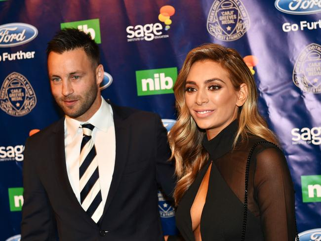 Jimmy and Nadia Bartel were one of AFL's glamour couples. Picture: NIGEL HALLETT