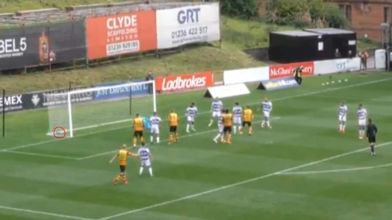 Partick Thistle were denied a clear goal!