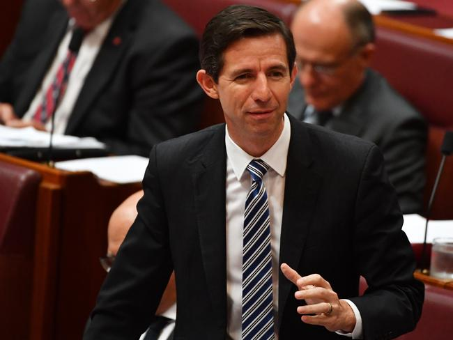 Education Minister Simon Birmingham has announced major reforms to university funding. Picture: AAP Image/Mick Tsikas