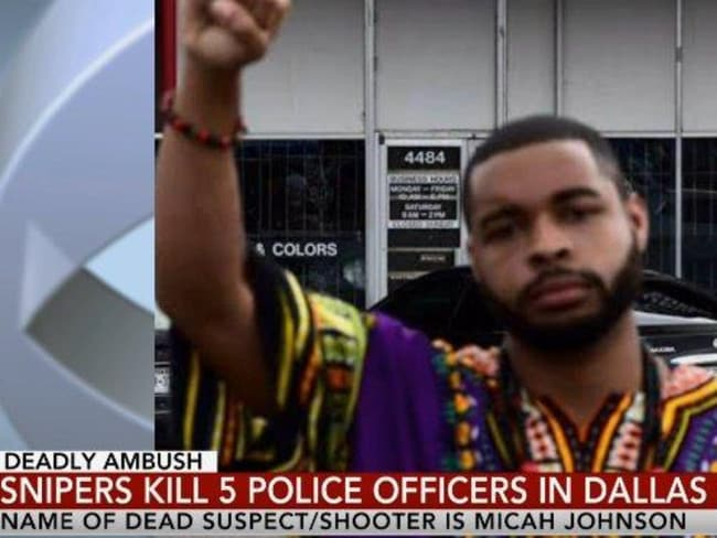 Dallas shooter Micah X. Johnson. Picture: Twitter