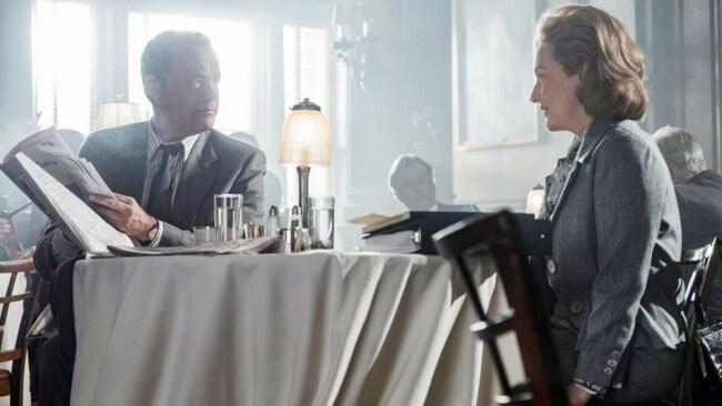 Ben Bradlee (Tom Hanks) and Kay Graham (Meryl Streep) in 'The Post'. Photo: EOne