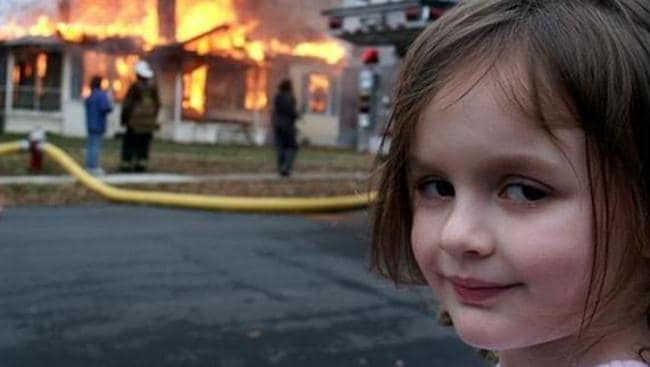 Image result for girl setting house on fire gif