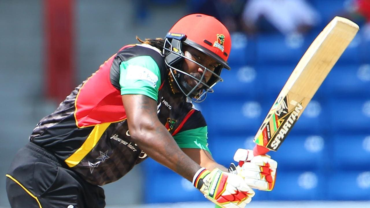 Chris Gayle plays in multiple T20 tournaments around the world. Photo: Ashley Allen — CPL T20 via Getty Images.