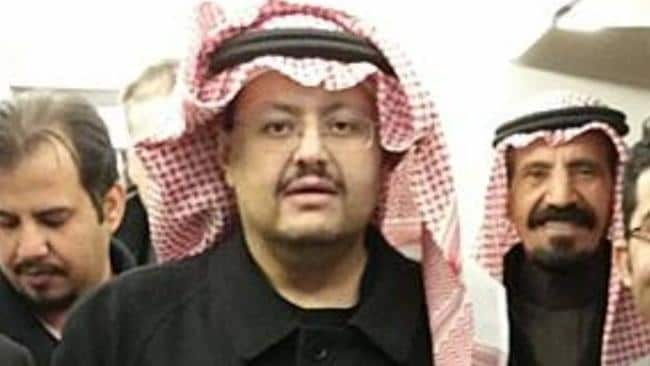 Missing Saudi prince Sultan bin Turki bin Abdulaziz. Picture: BBC News.