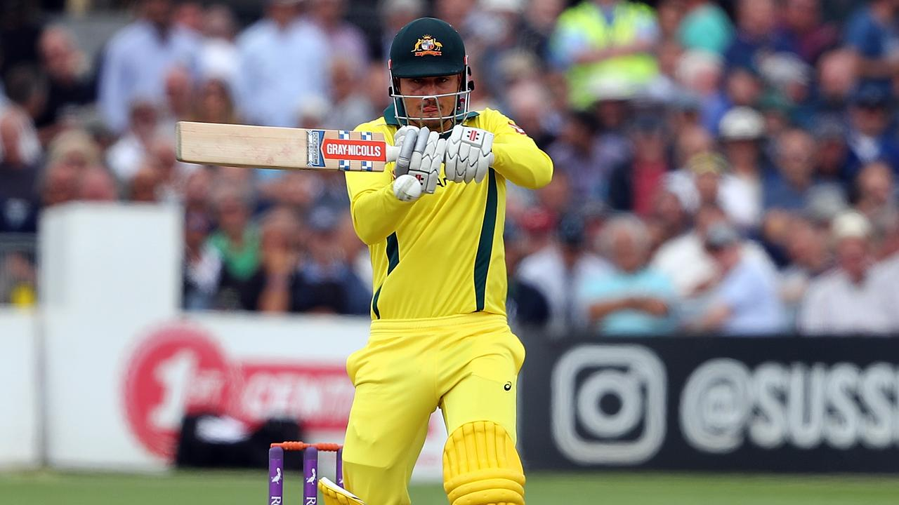 Marcus Stoinis on his way to a century against Sussex.