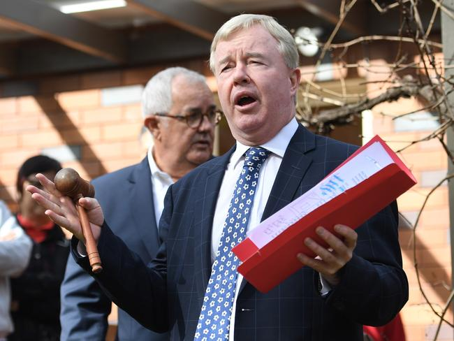 Auctioneer Peter Baldwin believes property prices in the inner west are as low as they will go. Picture: Tracey Nearmy.