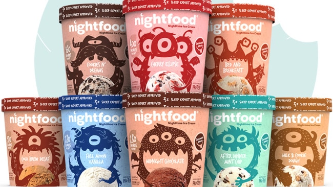 There are eight different flavours in the Nighfood range.