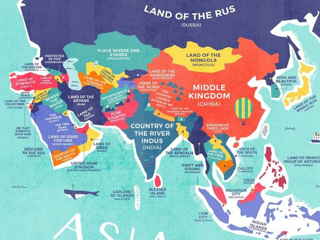 Asia is full of 'lands of' as tribes dominate the continent. Picture: Credit Card Compare