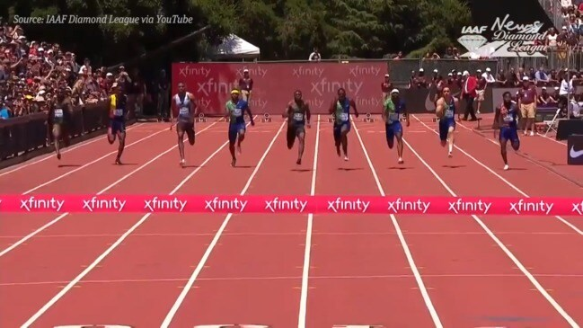 Christian Coleman post world lead in 100m sprint
