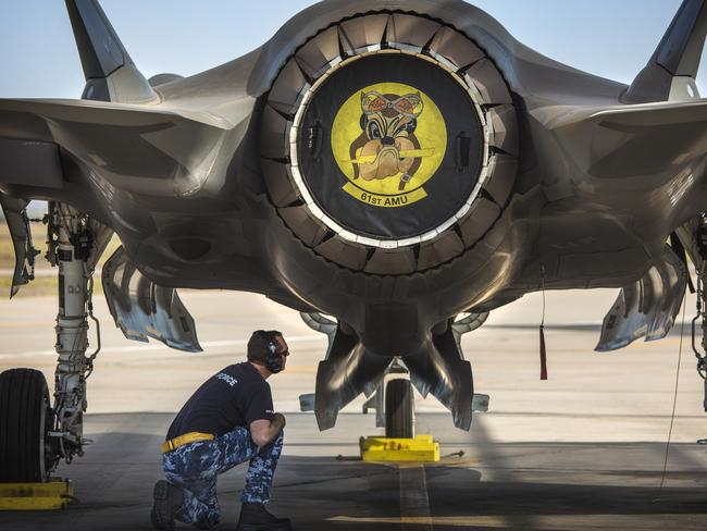 An Australian F-35A on the flight line at Luke Air Force Base, Arizona. The resiliance of the sealth fighter is facing some serious questioning. Picture: Defence