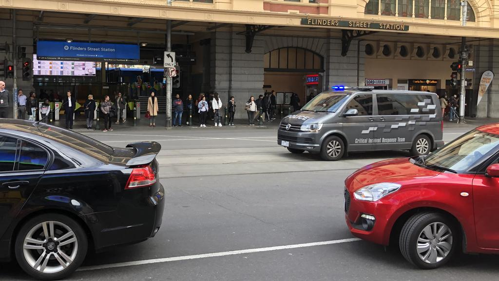 Flinders St police chase: Innocent pedestrians nearly mowed
