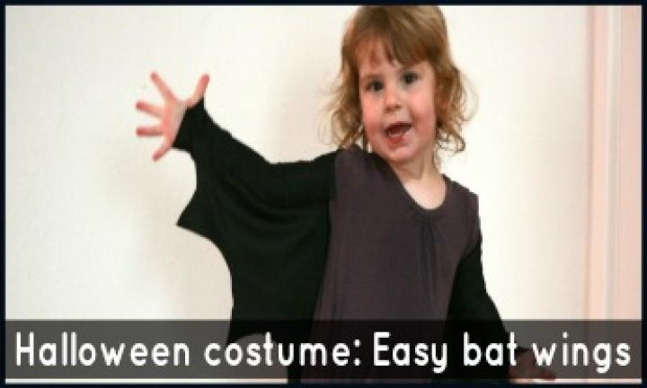 How to make an easy peasy Halloween costume: Bat wings for little monsters