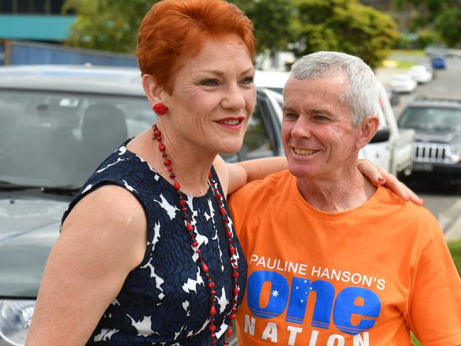 One Nation's Pauline Hanson and Malcolm Roberts. Picture: Mick Tsikas