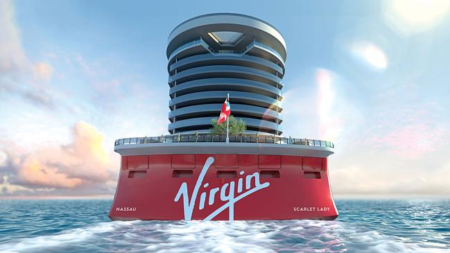 The Scarlet Lady is one of four ships ordered by Virgin Voyages. Picture: Virgin Voyages