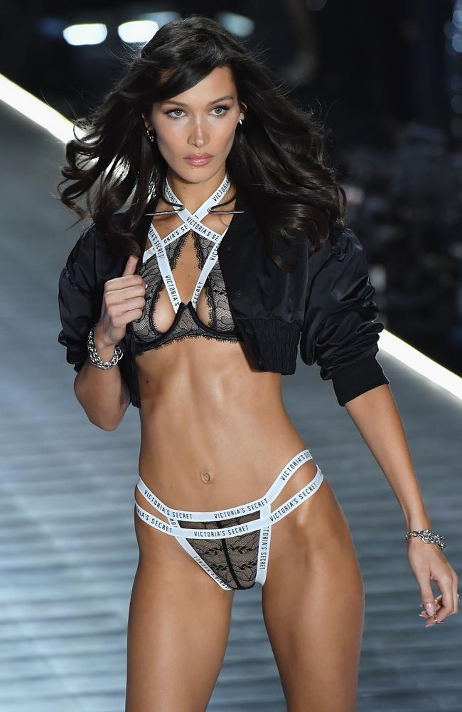 Victoria's Secret model Bella Hadid made Forbes' list with a $US8.5 million ($A11.7 million) salary. Picture: AFP