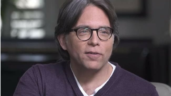 Allison Mack has allegedly been brainwashed by cult leader Keith Raniere. Picture: Keith Raniere Conversations/YoutubeSource:YouTube