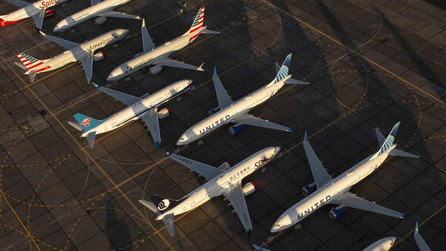 The largest operator of the aeroplane, American Airlines, announced that it was cancelling 737 MAX flights through June. Picture: David Ryder / Getty Images North America / AFP