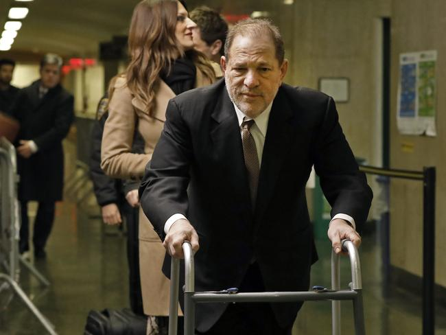 Harvey Weinstein arrives for jury selection in his trial on rape and sexual assault charges. Picture: AP Photo/Richard Drew