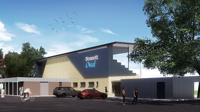 How the new Bennett Oval will look from the front.