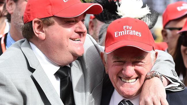 Troy and Leon Corstens will try their luck in New Zealand with True Excelsior in the Telegraph Stakes. Picture: AAP