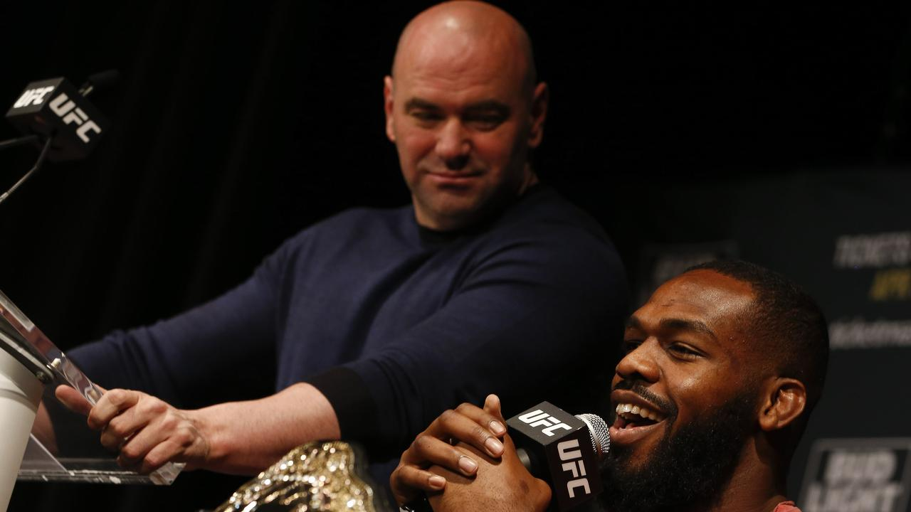 Jon Jones and Dana White have been locked in a bitter pay dispute. Jeff Zelevansky/Getty Images/AFP