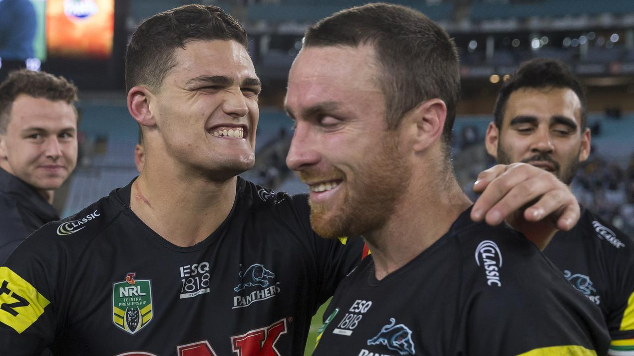 Nathan Cleary and James Maloney were both ready to be dominant halves. (AAP Image/Craig Golding)
