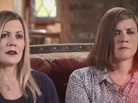 Alexis Somers, left, and Rachel MacNeill knew dad Martin had killed their mum, Michele. Picture: ABC