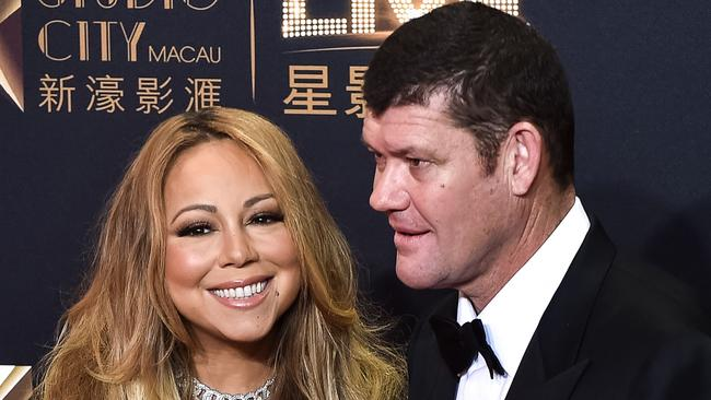 Mariah Carey had a brief romance with billionaire James Packer before splitting in 2016. Picture: AFP