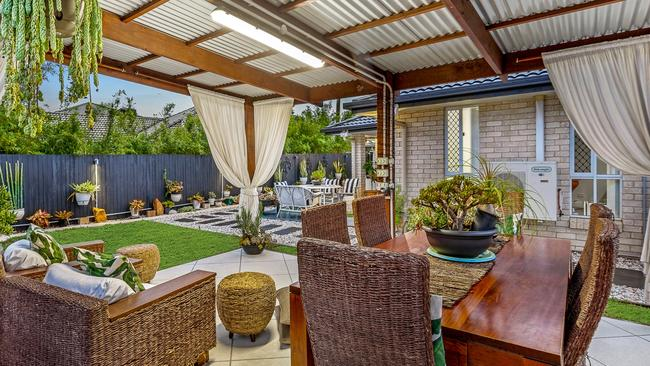 It has lighting and is a great place to relax with the family.