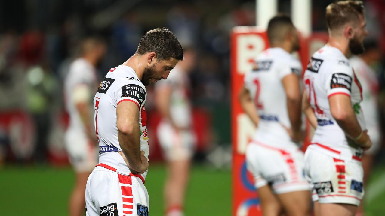 Tough task ahead: The Dragons bring the top eight's worst form line into the finals.