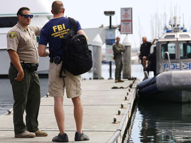 The FBI Underwater Search and Evidence Response Team has been involved in the operation. Picture: Mario Tama/Getty Images/AFP
