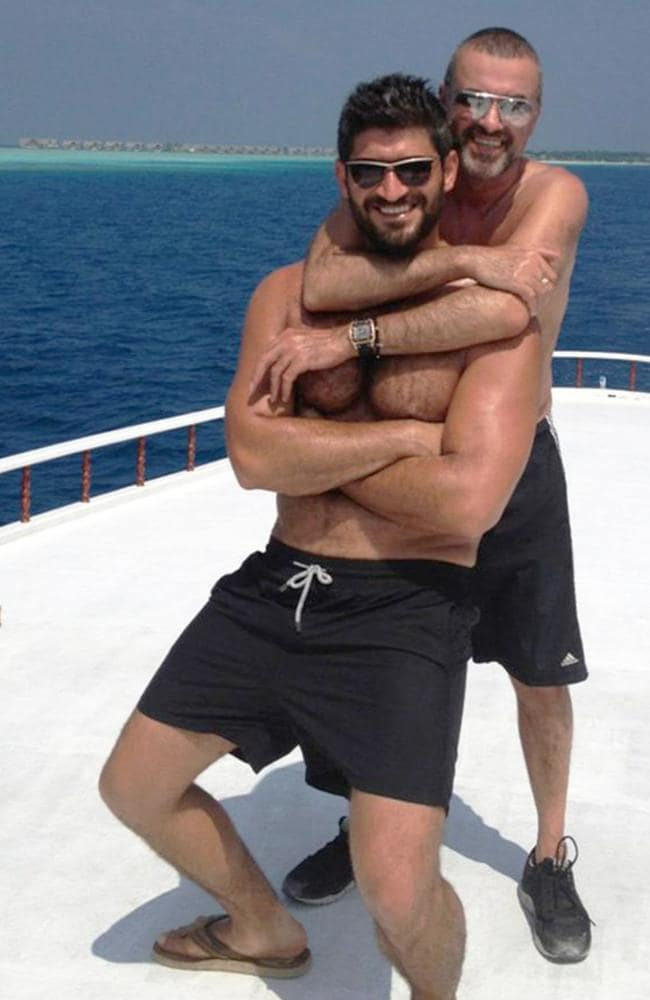 George Michael and his Australian ex-boyfriend Fadi Fawaz in happier times. Picture: Twitter