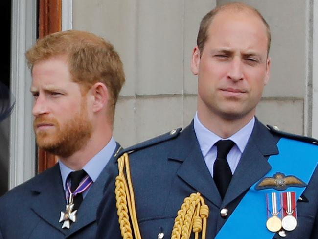 Harry and William are not seeing eye to eye. Picture: AFP