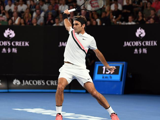 Roger Federer put on a masterclass.