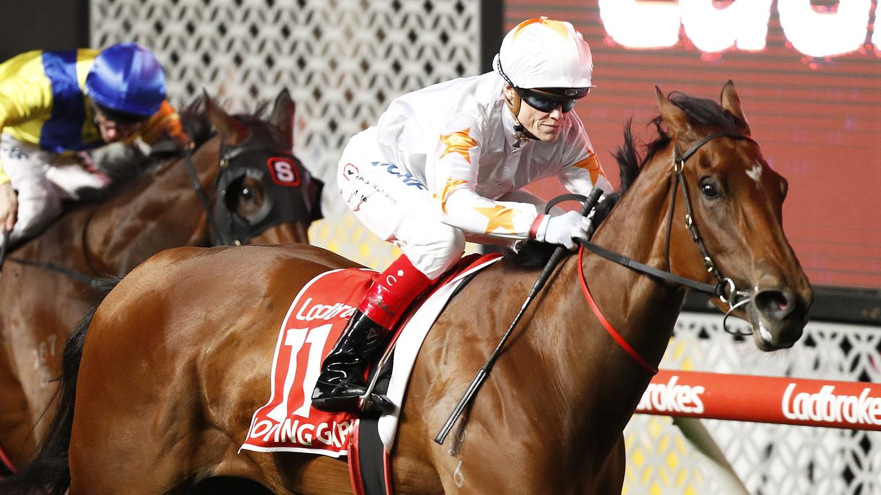 Loving Gaby produced a boilover in the Manikato Stakes. Picture: Getty Images