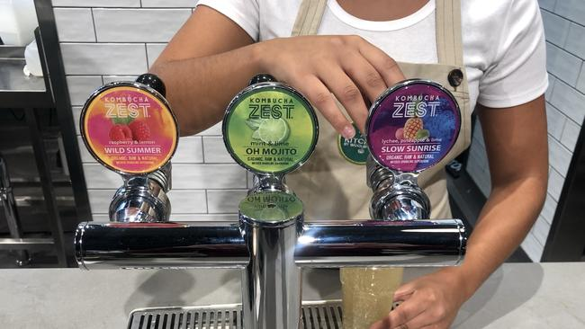 It's the only Woolworths with kombucha on tap.