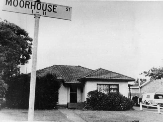 The scene of the Moorhouse murders.
