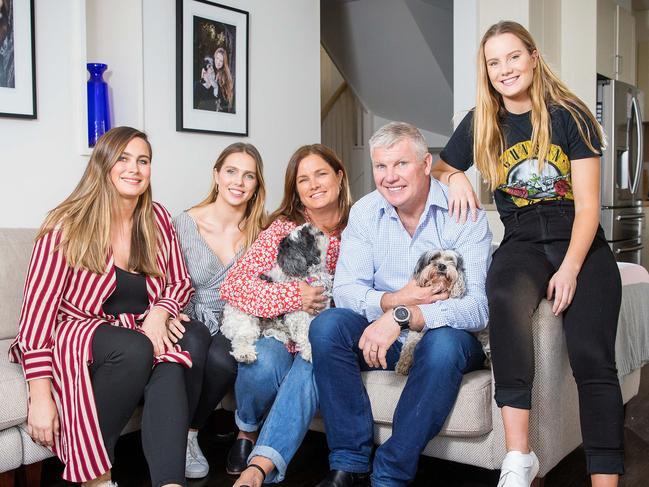 Danny with wife Anita and daughters L to R Chelsea, Danielle and Keeley. Picture: Mark Stewart
